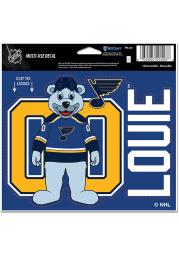 Louie St Louis Blues Team Mascot 5x6 inch Multi Use Auto Decal - Blue
