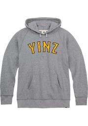 Pittsburgh Grey Yinz Long Sleeve Fleece Hood Sweatshirt