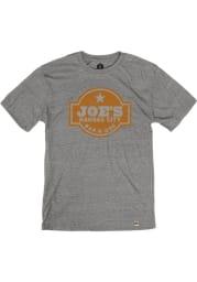 Joes Kansas City Bar-B-Que Heather Grey Logo Short Sleeve T Shirt