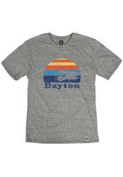 Dayton Grey Sunset Plane Short Sleeve T Shirt