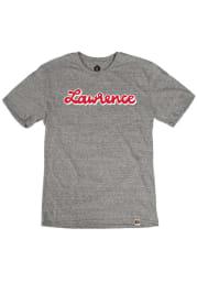 Lawrence Heather Grey Script Wordmark Short Sleeve T Shirt