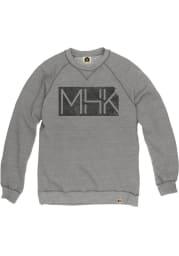 Manhattan Mens Grey State Shape Long Sleeve Crew Sweatshirt