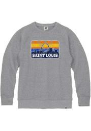 St Louis Mens Grey Skyline Long Sleeve Crew Sweatshirt