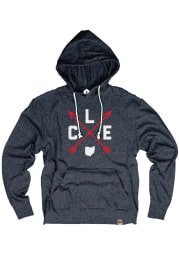 Cleveland Navy Distressed Arrows Long Sleeve T-Shirt Hood