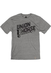 Union Horse Distilling Co. Heather Grey Short Sleeve T Shirt