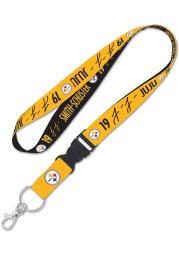 JuJu Smith-Schuster Pittsburgh Steelers 1-Inch Detachable Buckle Lanyard