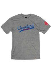 Rally Cleveland Buckeyes Grey Tailsweep Short Sleeve Fashion T Shirt