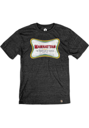 Manhattan Black Champagne Short Sleeve T Shirt