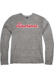 Lawrence Heather Grey Script Long Sleeve T Shirt