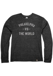 Philadelphia Heather Black VS The World Long Sleeve T Shirt
