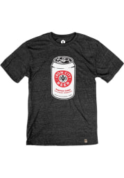 Pittsburgh Brewing Co. Iron City Pop Art Can Short Sleeve T Shirt - Heather Black