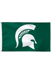 Michigan State Spartans 3x5 ft Deluxe Green Silk Screen Grommet Flag