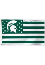 Michigan State Spartans 3x5 Americana Green Silk Screen Grommet Flag