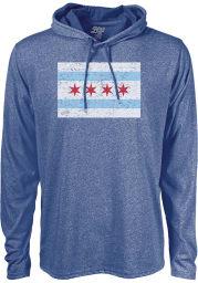 Chicago Blue Workhorse Long Sleeve Light Weight Hood