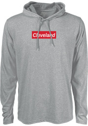 Cleveland Grey Workhorse Long Sleeve Light Weight Hood