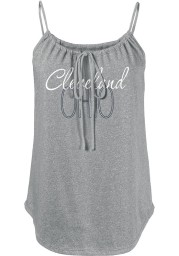 Cleveland Womens Red Fault Line Jr Tank Top