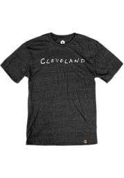 Cleveland Black Wordmark Dots Short Sleeve T Shirt