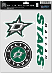 Dallas Stars Triple Pack Auto Decal - Green