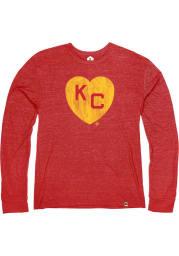 Rally Kansas City Monarchs Red Heart Kansas City Long Sleeve Fashion T Shirt