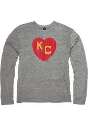 Rally Kansas City Monarchs Grey Heart Kansas City Long Sleeve Fashion T Shirt