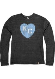 Rally Kansas City Monarchs Black Heart Kansas City Long Sleeve Fashion T Shirt
