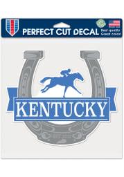 Kentucky 8x8 Horseshoe Auto Decal - Blue