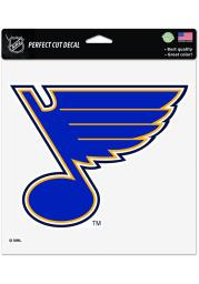 St Louis Blues 8x8 Logo Auto Decal - Blue