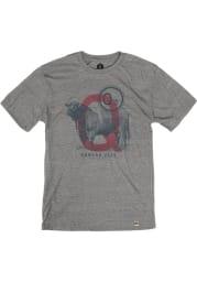 Q39 Heather Grey Cow Short Sleeve T Shirt