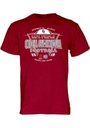 Oklahoma Sooners Crimson 2019 College Football Playoff Bound Short Sleeve T Shirt