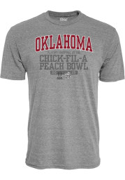 Oklahoma Sooners Grey 2019 College Football Playoff Bound Short Sleeve Fashion T Shirt