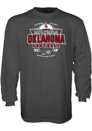 Oklahoma Sooners Charcoal 2019 College Football Playoff Bound Long Sleeve T Shirt