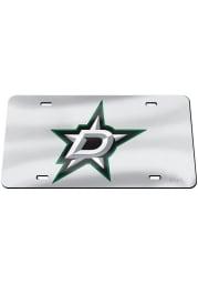 Dallas Stars Team Logo Silver Car Accessory License Plate