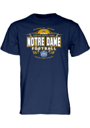 Notre Dame Fighting Irish Navy Blue 2019 Camping World Bowl Bound Short Sleeve T Shirt