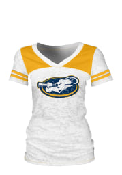 La Salle Explorers Juniors White Burnout V-Neck T-Shirt