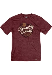 J. Rieger & Co. Heather Maroon Whiskey O! So Good Short Sleeve T Shirt