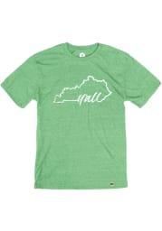 Kentucky Heather Green Yall State Shape Short Sleeve T Shirt