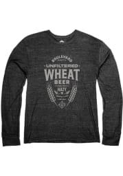 Boulevard Heather Black Wheat Label Long Sleeve T Shirt