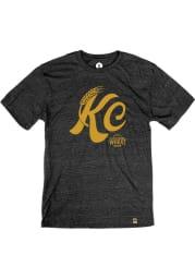 Boulevard Heather Black KC Wheat Short Sleeve T Shirt