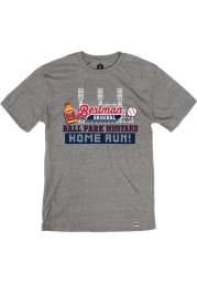 Bertman Mustard Heather Grey Ball Park Short Sleeve T-Shirt