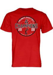 Cincinnati Bearcats Red AAC Champions Locker Room Short Sleeve T Shirt