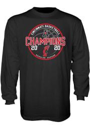 Cincinnati Bearcats Black AAC Champions Locker Room Long Sleeve T Shirt