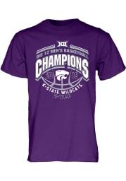 K-State Wildcats Purple 2019 Big 12 Champions Short Sleeve T Shirt