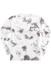 Wichita Women's Amethyst Tie Dye Wordmark Long Sleeve T Shirt