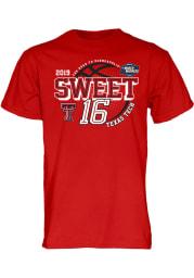 Texas Tech Red Raiders Red 2019 NCAA Sweet 16 Short Sleeve T Shirt