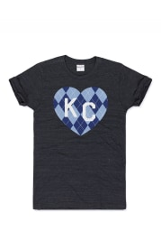 Charlie Hustle Kansas City Black Heart Short Sleeve T Shirt