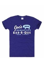 Charlie Hustle Kansas City Navy Blue BBQ Short Sleeve T Shirt