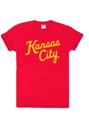 Charlie Hustle Kansas City Red Script Short Sleeve T Shirt