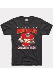 Christian Okoye Kansas City Chiefs Black Nigerian Nightmare Short Sleeve Fashion Player T Shirt