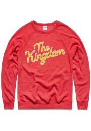 Charlie Hustle Kansas City Mens Red The Kingdom Long Sleeve Crew Sweatshirt