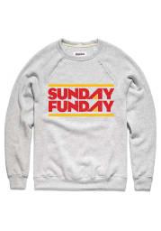 Charlie Hustle Kansas City Mens Grey Sunday Funday Long Sleeve Crew Sweatshirt